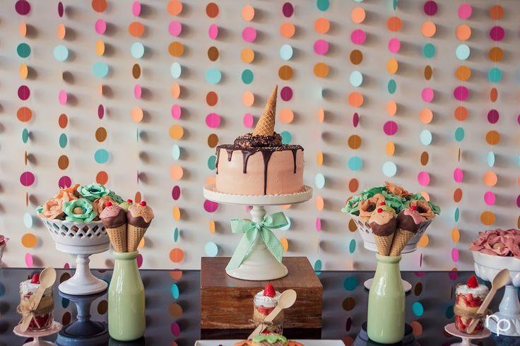 Bella Fiore Decoração de Eventos: Festa do sorvete