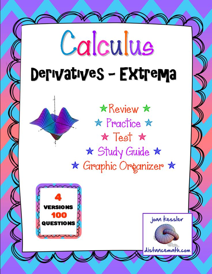 Calculus, Extrema. This lesson is designed for AP Calculus AB, Honors Calculus, and College Level Calculus 1. This bundle includes 4 versions of a Practice/Review/Test/HW for the Calculus 1 unit on Extrema.  Topics include: Critical values, critical points, relative extrema, absolute extrema, points of inflection, increasing, decreasing, concavity. Also includes a curve sketching graphic organizer.