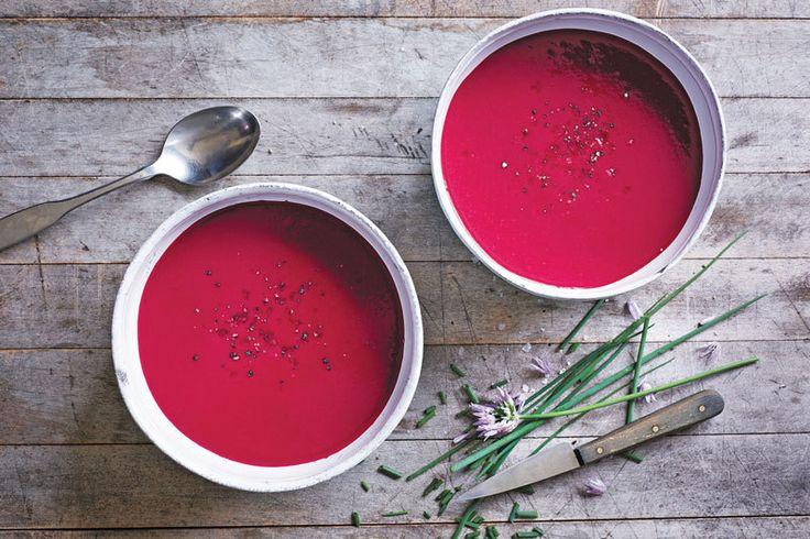 Изумительный суп-пюре из свеклы с имбирем и апельсином