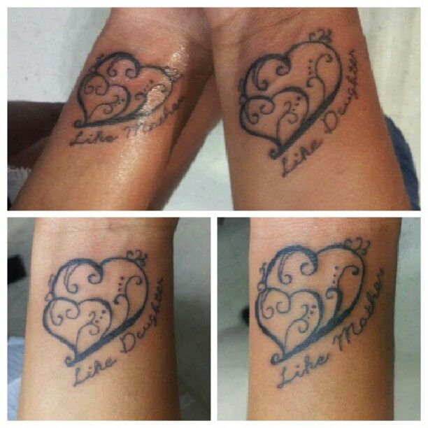 """I really like this. I just don't want it so fancy. 2 hearts with """"like mother, like daughter"""" would work for me."""