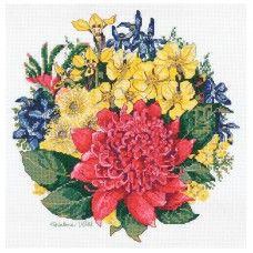 Waratah Bouquet Helene Wild Counted Cross Stitch Kit