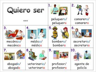 Profesiones: Spanish - jobs ppt.