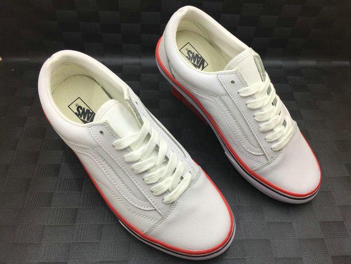 Vans Old Skool VN0A31Z9NZE White Red Vans For Sale  Vans  019761272e6e