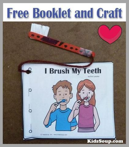 For a limited time only...Free download!  I Can Brush My Teeth booklet, activities, and craft.
