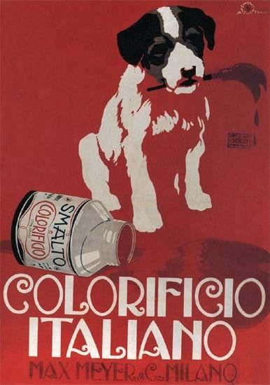 Vintage Italian Posters ~ #Italian #vintage #posters ~ Colorificio Max Meyer vintage advertising