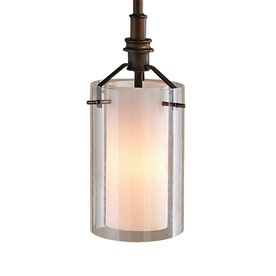 allen roth 512in w oilrubbed bronze mini pendant light with clear glass