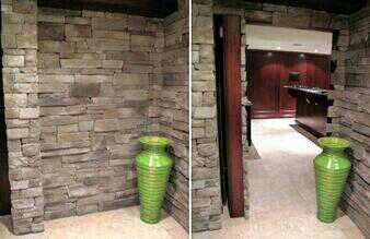 Great idea: secret passage to the man cave. No secret password, no secret knock.