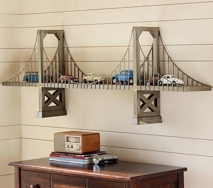 Brückenregal – Ich liebe dieses Regal! Groß für ein Autothema für ein Kind oder ein Retro-Thema für einen Erwachsenen