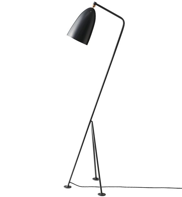Gräshoppa Floor Lamp, Anthracite Grey // Gubi