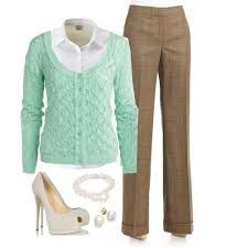 blue cardigan outfits – Google Search