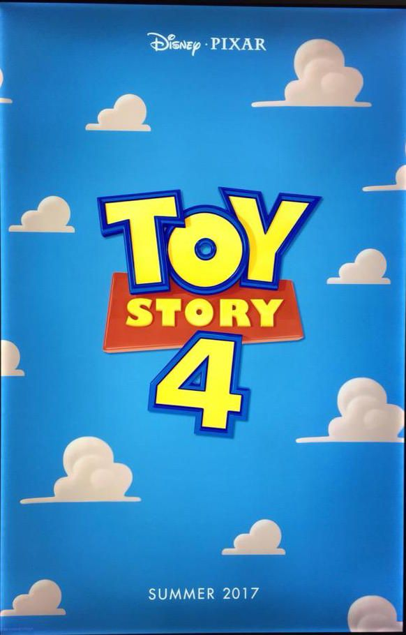 The new Toy Story 4 poster coming out in the Summer of 2017.