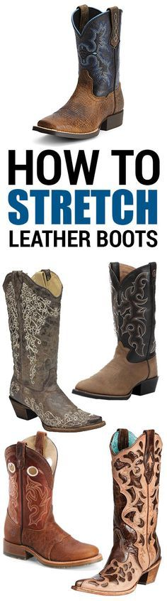Got some snug boots? Learn how to stretch leather boots with these easy tips.