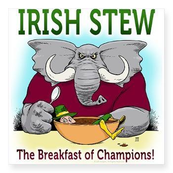 "ALABAMA Irish Stew - Breakfast of Champions"" logo. RTR! | #alabama #bama #crimson #tide #football #roll #tide #national #champions #championship #game #funny #tee #shirt"