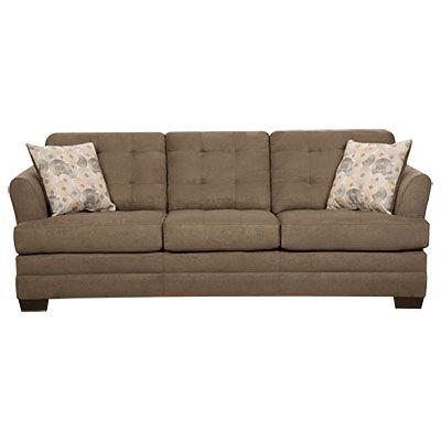 Simmons 174 Velocity Shitake Sofa With Gigi Pillows Sofa
