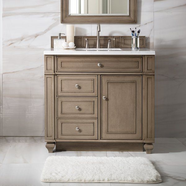 This Lambrecht 36 Single Bathroom Vanity Set Features A Full Plinth Base Also Known As A Bathroom Vanity Bathroom Vanities Without Tops Single Bathroom Vanity