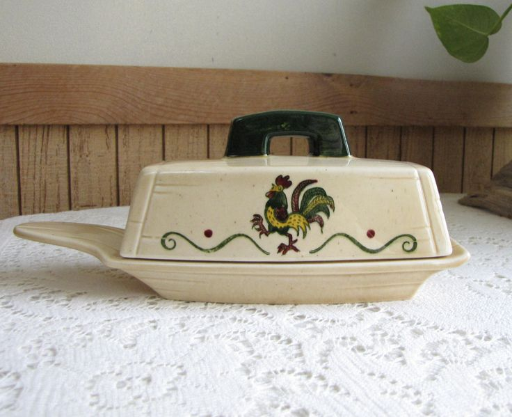 Metlox PoppyTrail California Provincial Butter Dish Vintage Dinnerware and Replacements Vernon Farmhouse 1956-1982