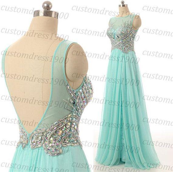 High Quality Handmade Crystal Beading Chiffon by customdress1900