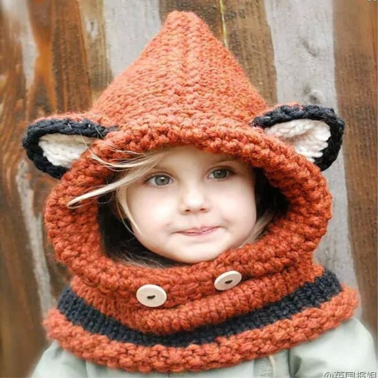 Fox Crochet Hat/Scarf
