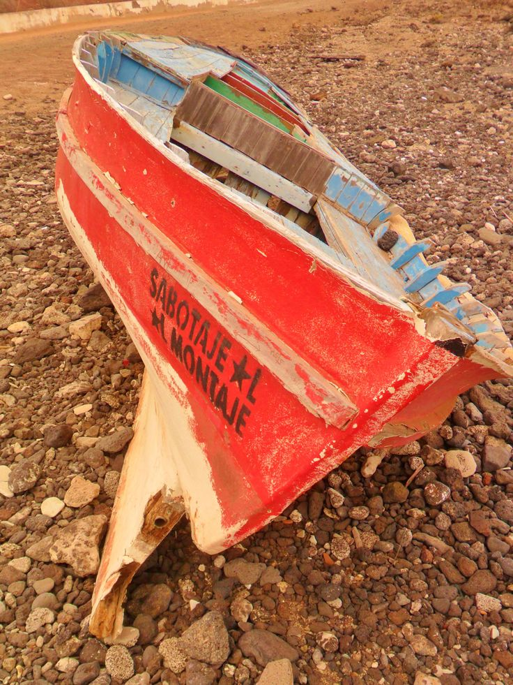 "vwcampervan-aldridge: ""Boat washed up, Arrecife, Lanzarote, Canary Islands All Original Photography by http://vwcampervan-aldridge.tumblr.com """