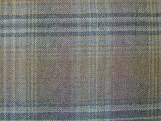 Designer Curtain Fabric Wool Tartan Plaid Check Mauve Grey Upholstery by mt | eBay