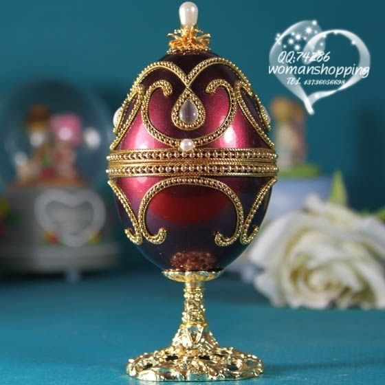 Candy Red Faberge style Russian carved egg music box free shipping e10 on AtomicMall.com http://atomicmall.com/view.php?id=2287300_source=Twitter_medium=ProductToools