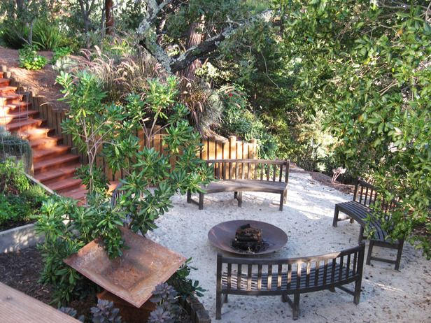 Curved fire pit seats