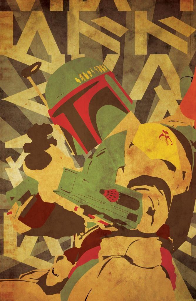 Star Wars Propaganda poster Boba Fett