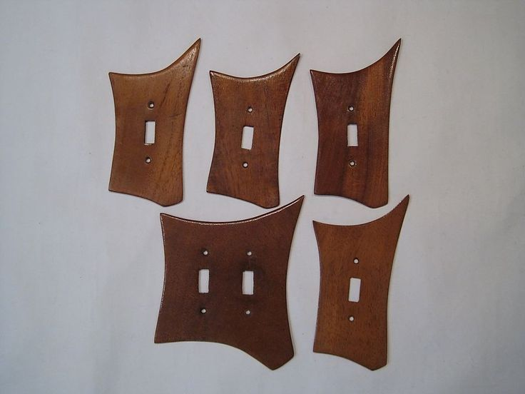 Vtg 50's Atomic Ranch Teak Switch Plate Covers X5 Midcentury Danish Modern Eames | Antiques, Periods & Styles, Mid-Century Modernism | eBay!