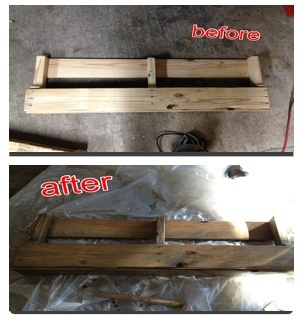"""Sanded, attached piece to bottom and used """"weathered oak"""" stain by ..."""