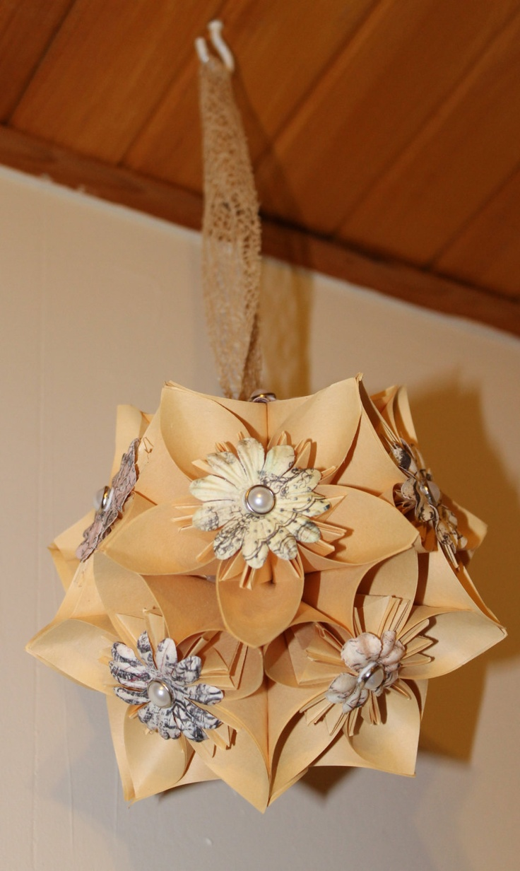 84 best pomander images on pinterest kissing ball flower origami flower ballpomander beige with printed embellishments pearls 1800 dhlflorist Image collections