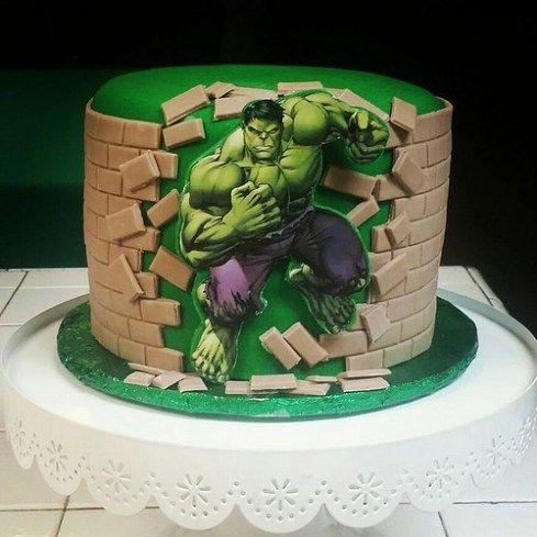 Imágenes de Tortas Decoradas del Increíble Hulk