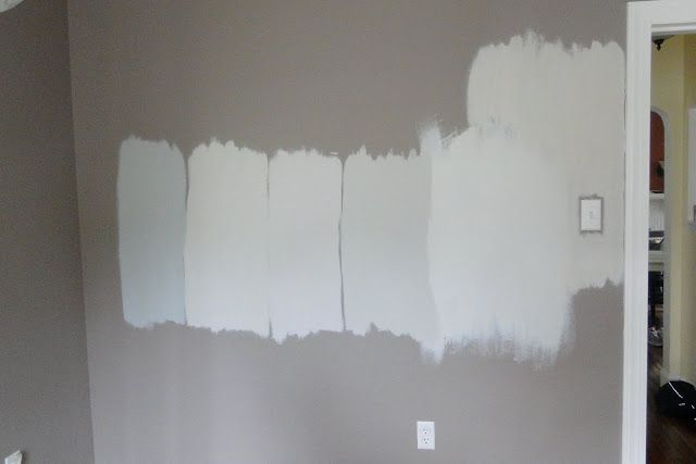 From left to right martha stewart driftwood gray too for Light neutral grey paint