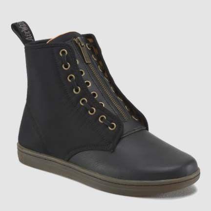 Brooks Jungle Boot by Dr. Martens- Black Leather & Black Nylon