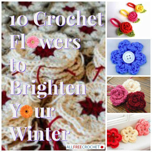 ten crochet flowers to crochet