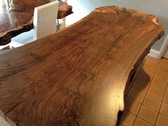 live edge claro walnut wood slab dining table by ozmadesign