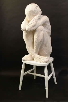 """I Don't Want to Know"" (2004), by Anna Gillespie. Plaster."