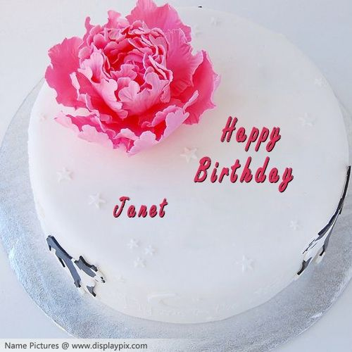 Images Of Cake In Which Name Can Be Written : Names Picture of Janet is loading. Please wait.... Happy ...