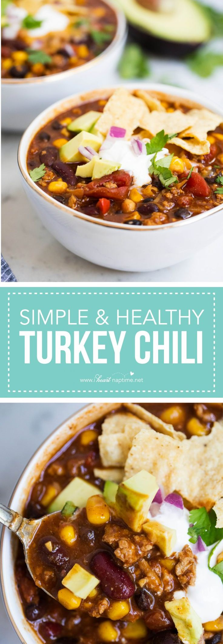 This healthy Turkey Chili recipe makes for the perfect weeknight meal.
