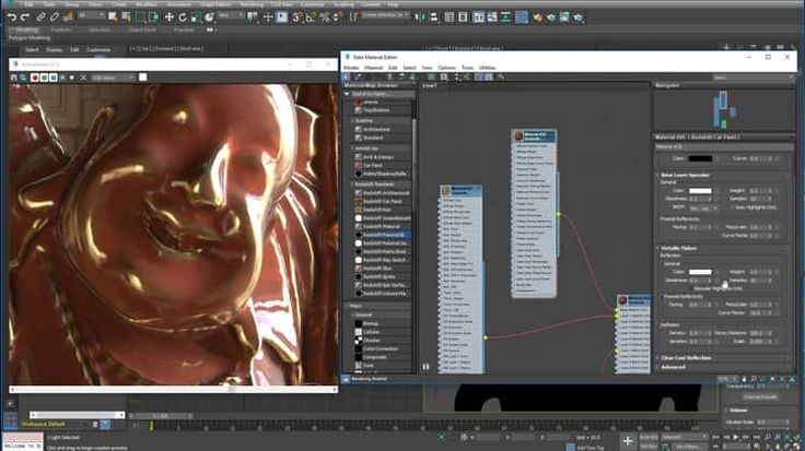 Curvature Shader in Redshift for Max