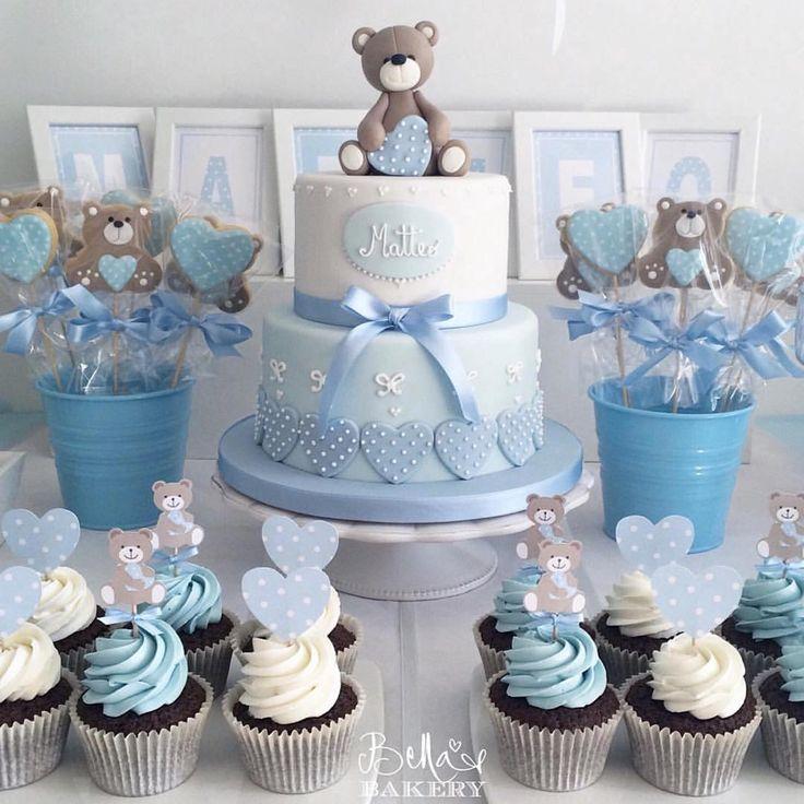 """Urso - Decor & Festa - Mari Mangione no Instagram: """"Inspiração super delicada pra chá de bebê  para os meninos"""