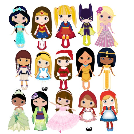 Doll clip art special order 15png300dpi for commercial and personal use.