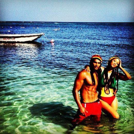 Tyra Banks, Rob Evans, & Caribbean Waters