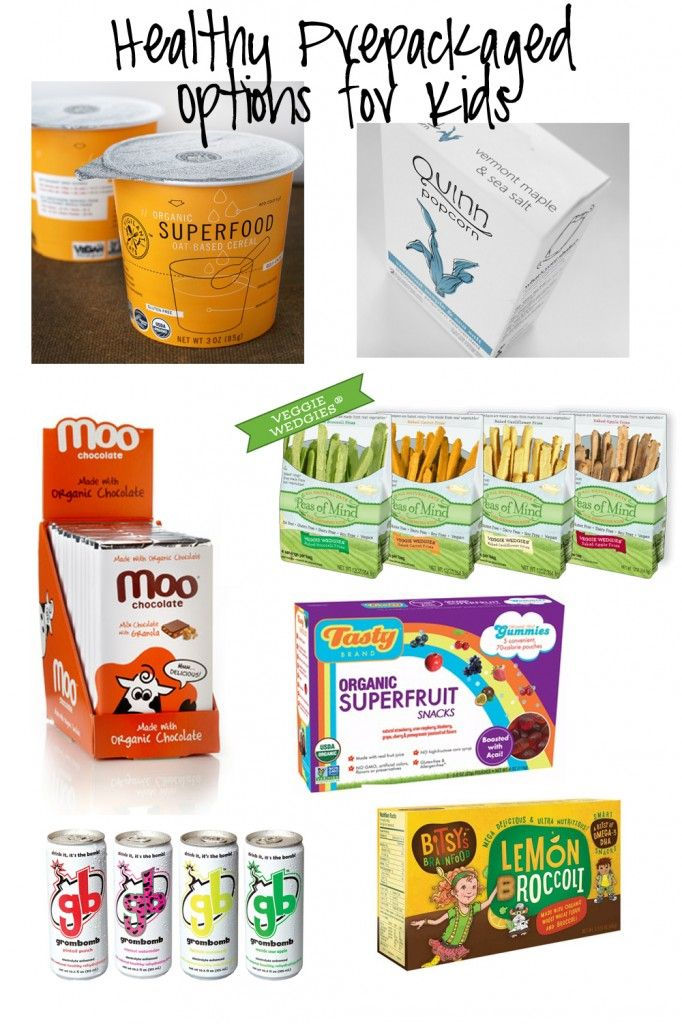 Healthy Prepackaged Options For Kids Back To School
