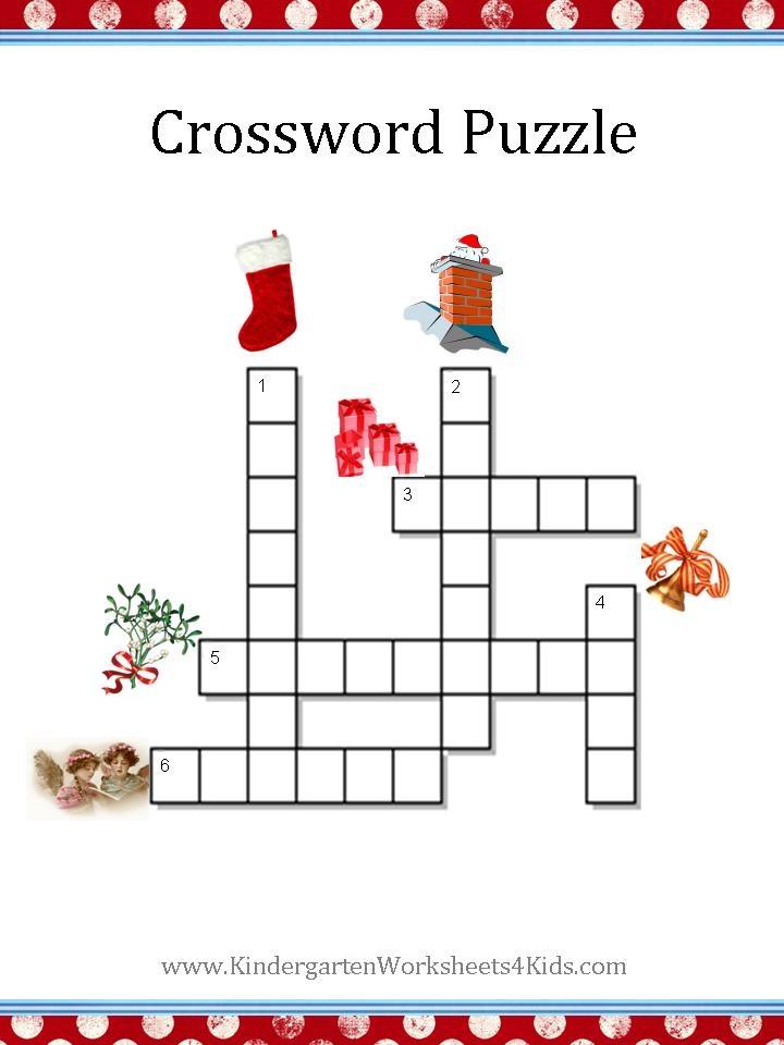 Christmas Crossword Puzzle Christmas Printables