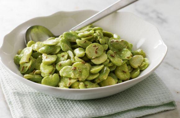 Broad Beans with Cumin