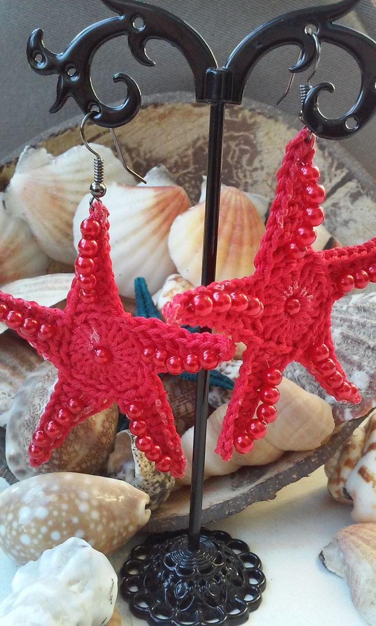 #uncinetto #orecchini #stellamarina #perline #rosso #estate #tempodestate #artigianato #fattoamano #crochet #earrings #starfish #beads #red #summer #summertime #handmade #madewithlove #lovecrochet #lovehandmade #shophandmade #puntofiloefantasia