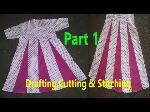 a41c1eefdc Kaliyon Wala Frock | Kalidar Frock | Drafting,Cutting & Stitching in ...