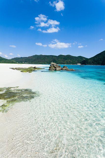 Looking back at Aharen beach, Kerama Islands, Japan, via Flickr.