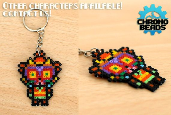 The Legend of Zelda - Majora's Mask - Link - Skull Kid - Majora - Keychain - hama beads - perler beads