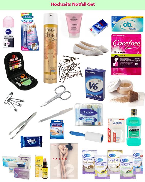 Wedding emergency set - survival kit / Hochzeit Notfall-Set